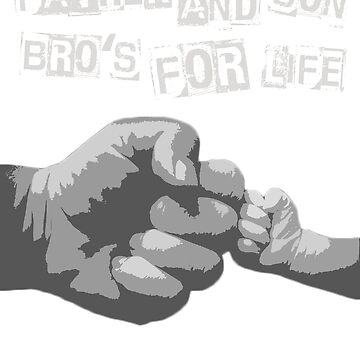 Father And Son Bro's For Life Shirt - Dad & Son Matching Tee by BashkiSupply