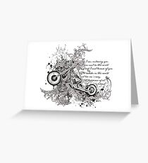 Flying Biker Stickers - Motorcycle T-shirts Greeting Card