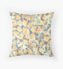 Mango Symphony Yellow Abstract Pattern Floor Pillow