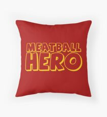 Meatball Hero Throw Pillow
