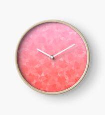 Ombre Pink Clock