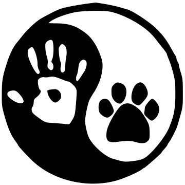 Adopt Stickers and More - YIN YANG HAND PAW - Dog Lover Gifts by merkraht