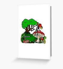Magical Forest with Faerie Greeting Card