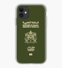 Moroccan Passport Tshirt iPhone Case