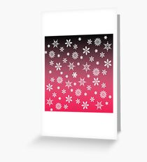 Snow Flurries-Pink/Black Ombre Greeting Card