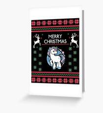 Christmas Unicorn Greeting Card