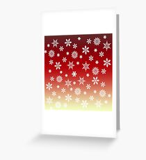 Snow Flurries-Red/Cream Ombre Greeting Card