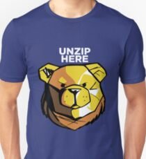 ROBUST BEAR UNZIP HERE T-Shirt