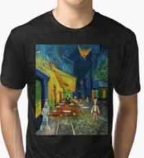 Goodsoup terrace at night Tri-blend T-Shirt