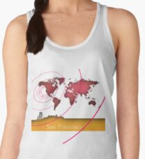 San Francisco in the world Women's Tank Top