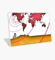 San Francisco in the world Laptop Skin