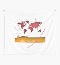 San Francisco in the world Wall Tapestry
