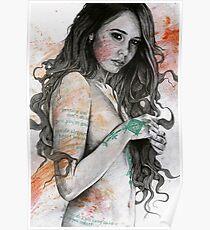You Lied (erotic female portrait, nude girl with mandala mehndi tattoos) Poster