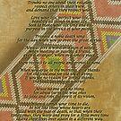 Lebe dein Leben, Chief Tecumseh Perlen auf Pergament von Irisangel