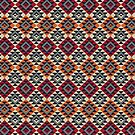 Aztec Mayan Inca Pattern 18- Native American by Cveta