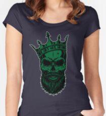 #Skull #Beard Women's Fitted Scoop T-Shirt