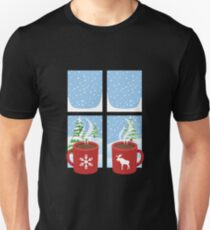 Snowflake and Moose Hot Chocolate Design for the Ski Lodge T-Shirt