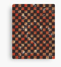 Grid Abstract Urban Red Canvas Print