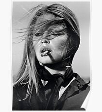 Brigitte Bardot black & white photography Poster