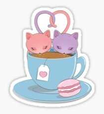Les Chats Boivent Du Thé Sticker