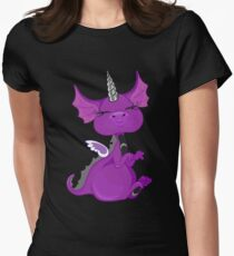The Asexuality Blog - Unidragon Mascot Logo Women's Fitted T-Shirt