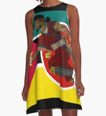 Warrior Of The Past A-Line Dress