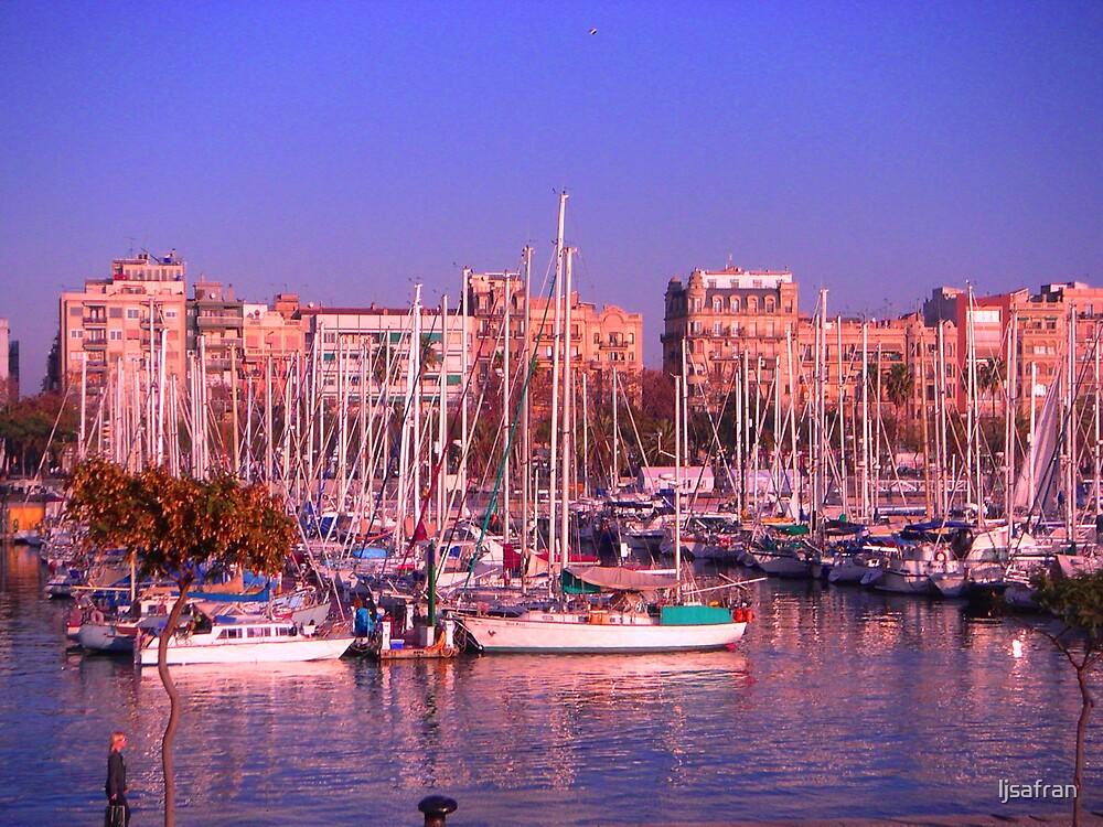 Barcelona Harbor by ljsafran