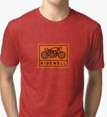 RIDEWELL Logo - Black on Orange Tri-blend T-Shirt