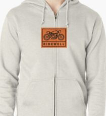 RIDEWELL Logo - Black on Orange Zipped Hoodie