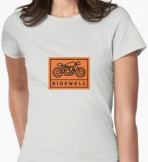 RIDEWELL Logo - Black on Orange Women's Fitted T-Shirt