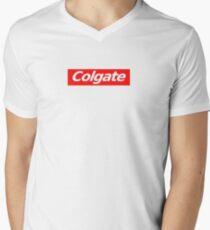 colgate supreme sticker Men's V-Neck T-Shirt