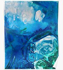 Deep Blue Ocean Life Poster