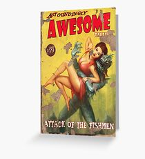 Astoundingly Awesome Tales: Attack of The Fishmen Fallout 4 Poster  Greeting Card