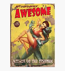 Astoundingly Awesome Tales: Attack of The Fishmen Fallout 4 Poster  Photographic Print