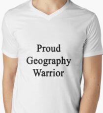 Proud Geography Warrior  Men's V-Neck T-Shirt
