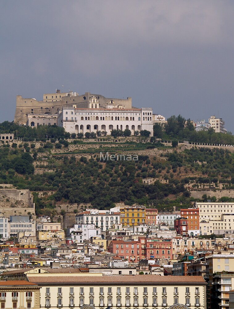 Naples - Looking up to the National Museum on the HIll by Memaa