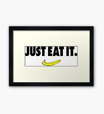 Nike Parody - Just Eat It Framed Print