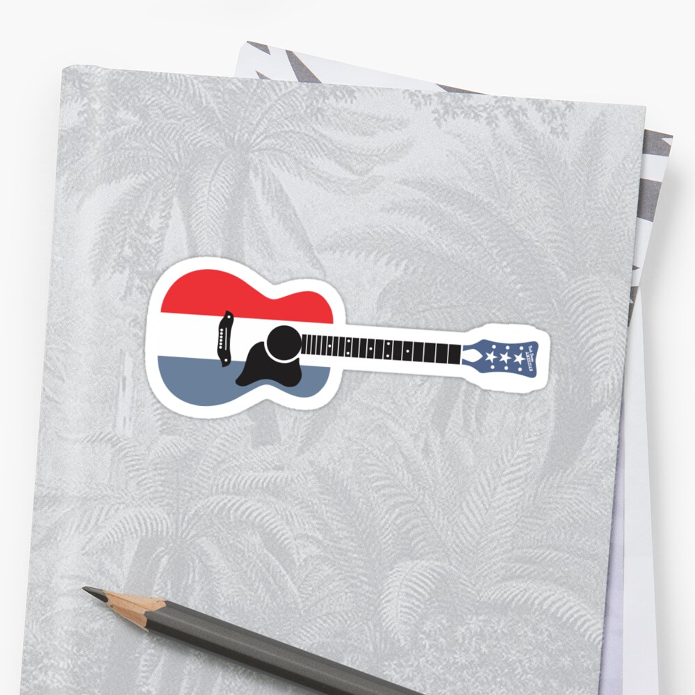 Harmony Buck Owens American Guitar Stickers By Reid Fitch Redbubble