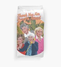 thank you for being a friend ... Duvet Cover