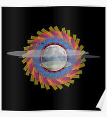 Moon art Poster
