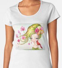 """Watercolor Painting """"Orchids"""" Women's Premium T-Shirt"""