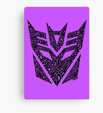 Transformers Decepticons Canvas Print