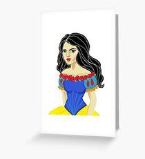 Stylized snow white princess Greeting Card