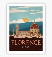 Vintage Travel Poster - Florence, Italy Sticker
