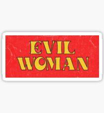 'EVIL WOMAN' 70s FILM STICKER Sticker