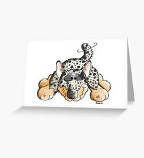 Playing Australian Cattle Dog Comic - Funny - Gift - Play Greeting Card