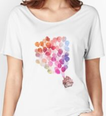 Aquarell Up House Loose Fit T-Shirt