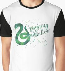 House Snake Cunning and Ambitious Watercolor Graphic T-Shirt