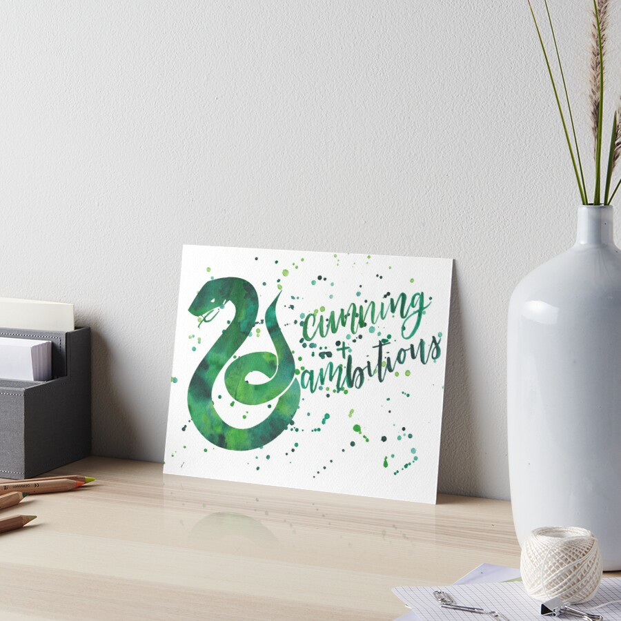 House Snake Cunning and Ambitious Watercolor by calligraphynerd