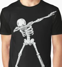 Dabbing Skeleton Halloween Funny Zombie Dab Dance T Shirt Graphic T-Shirt